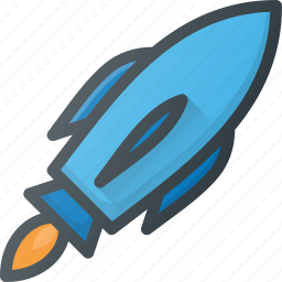 exploration, mission, rocket, space, spacesip, statup icon