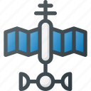 antenna, exploration, orbit, radar, satellite, signal, space icon