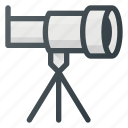 astronomy, descovery, lens, science, space, telescope icon