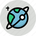 astronomy, earth, planet, satellite, space icon