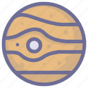 jupiter, planet, space, universe icon
