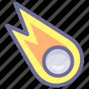 comet, falling, meteor, meteorite icon