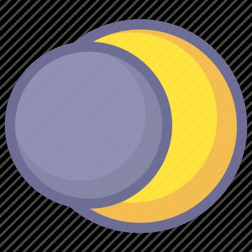 eclipse, lunar eclipse, moon eclipse icon