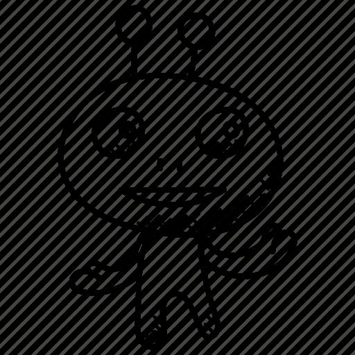 alien, cartoon alien, character, halloween, monster alien icon