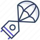 parachute, paragliding, paraglider, skydiving, chute icon