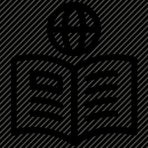 book, notebook, studies icon