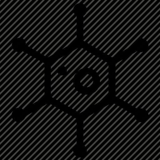 atoms, chemistry, molecule icon