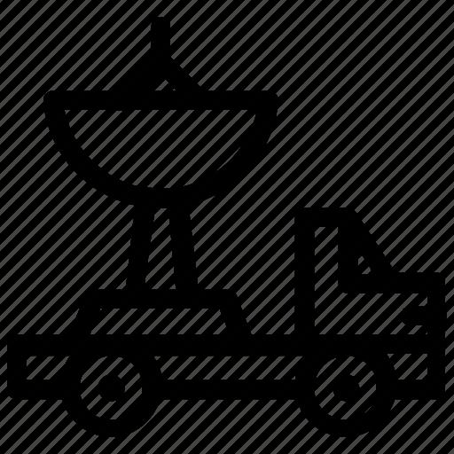 satellite, transportation, truck, vehicle icon