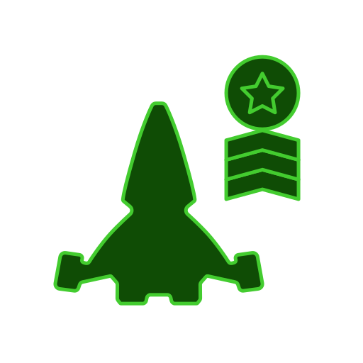hierarchy, military, patent, ship, spaceship icon