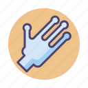 alien, alien hand, hand, ufo hand icon