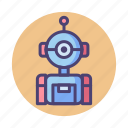 ai, alien, artificial intelligence, assistant, bot, robot, robotic icon