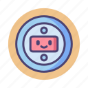 bot, floating robot head, robot, robot head icon