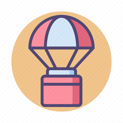 air supply, airdrop, delivery, space, space supply delivery, supply icon