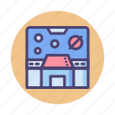 control, control panel, mission room, room, spaceship, spaceship control room icon