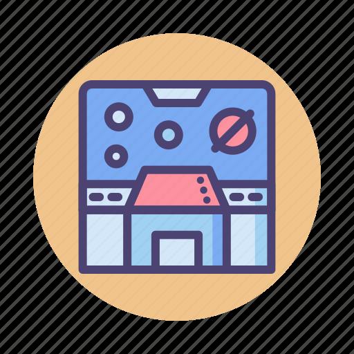 control, control panel, mission room, room, spaceship, spaceship control room icon