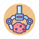 fossil, space fossil, space stone, tektite icon