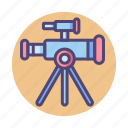 stargazing, telescope icon