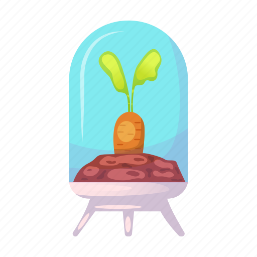 colonization, flask, garden, nature, plant, research, space icon