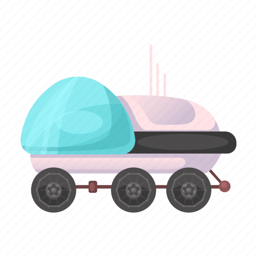 all-terrain vehicle, apparatus, colonization, moon rover, space icon