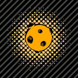 astronomy, comics, dark, full, moon, night, space icon