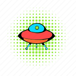 alien, comics, flying, science, space, spaceship, ufo icon