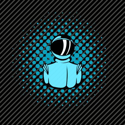 astronaut, comics, cosmonaut, science, space, technology, universe icon