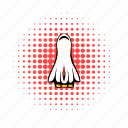 comics, launch, off, rocket, ship, space, spaceship icon