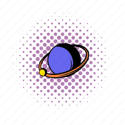 astronomy, comics, planet, ring, saturn, space, star icon