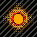 bright, comics, flare, solar, sun, sunlight, sunshine icon
