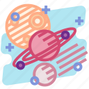 education, orbit, planet, science, solar, space, system icon