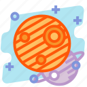 education, jupiter, planet, science, space icon
