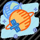education, orbit, sattelite, science, space icon