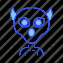 alien, creature, evil, monster icon