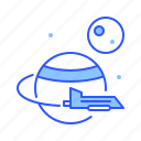 flying, planet, ship, space, spaceship, universe icon