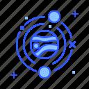 garbage, orbit, planet, trash, universe icon