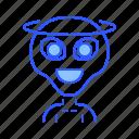 alien, angel, creature, good icon