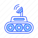 car, moon, moon rover, robot, rover, vehicle icon