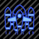 nasa, plane, rocket, ship, space, spaceship icon