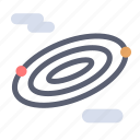 rotation, science, space icon