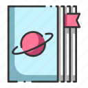 article, astronomy, book, knowledge, stars, treatise, universe icon