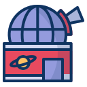 astronomy, galaxy, laboratory, observatory, research, science, space icon