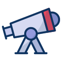 astronomy, galaxy, laboratory, observatory, science, space, telescope icon