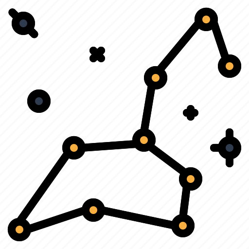 constellation, space, star, universe icon