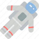 astronaut, man, space icon