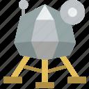astronaut, lunar, module, space icon