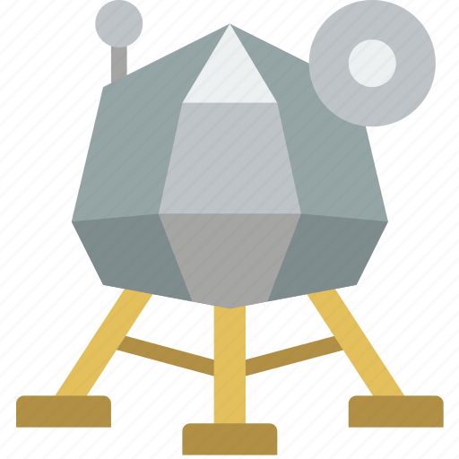 astronaut, lunar, module, space icon