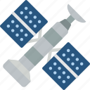 astronaut, satellite, space icon