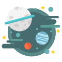 astronomy, galaxy, planets, solar, space, star, universe icon