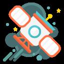 orbital, satellite, space, orbit, shuttle, spaceship icon