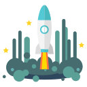 launch, rocket, space, spacecraft, spaceship, starship, startup icon